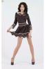 Шоколадное платье с кофейным воротником