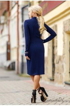 Темно-синее платье с узором