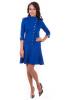 Синее платье с пуговицами