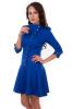 Синее платье с пуговицами - фото 3
