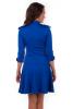 Синее платье с пуговицами - фото 2