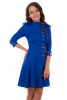 Синее платье с пуговицами - фото 1