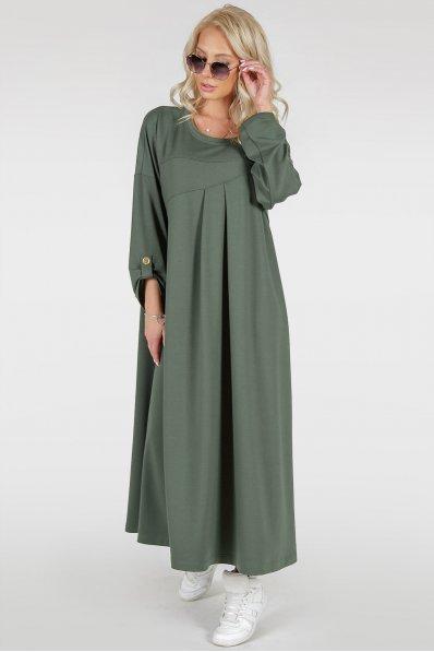 Стильное платье оверсайз цвета хаки