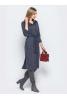 Стильное платье рубашка серо-синего оттенка  - фото 2
