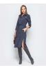 Стильное платье рубашка серо-синего оттенка