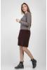 Стильное вязаное платье цвета мокко - фото 1