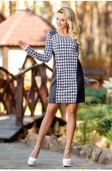 Стильное платье гусиная лапка