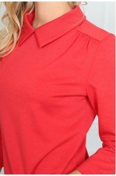 Свободное красное платье футляр