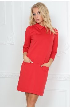 Вільна червона сукня футляр