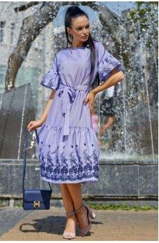 Роскошное молодежное платье сине-голубого цвета