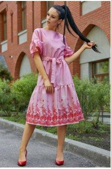 Роскошное гламурное платье нежно-розового цвета
