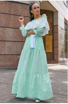 Изысканное платье мятного цвета