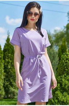 Стильное платье светло-фиолетового цвета
