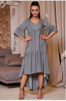 Стильное легкое платье серого цвета