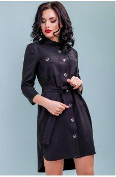 Молодежное стильное платье черного цвета