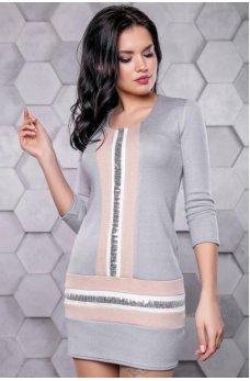 Модное платье серого оттенка