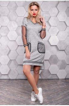 Кежуал платье серого цвета