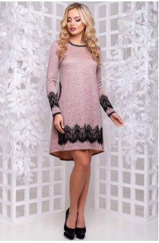 Гламурное платье персикового цвета
