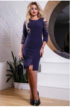Восхитительное синее платье