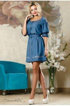 Изящное платье синего цвета