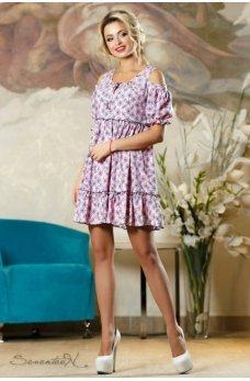 Воздушное летнее платье розового цвета