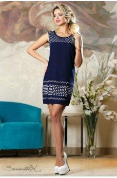 Изящное летнее платье синего цвета