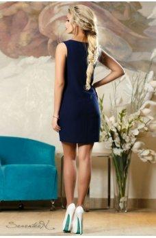 Изысканное летнее платье темно-синего цвета