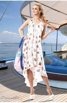 Стильное и воздушное белое платье
