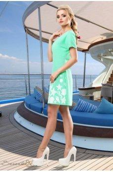 Бирюзовое платье с морской тематикой