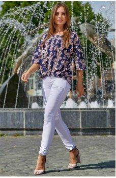 Белые классические брюки с карманами