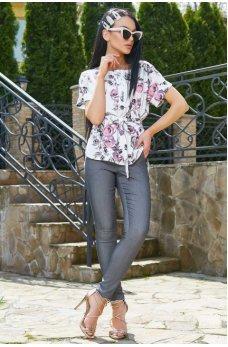 Белая легкая блуза с коротким рукавом