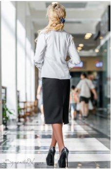 Невероятно стильная кожаная юбка черного цвета
