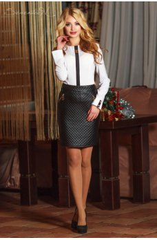 Стильная черная юбка черная