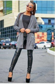 Невероятно женственный серый кардиган
