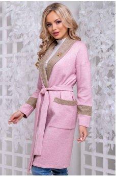 Кардиган розово-бежевого цвета