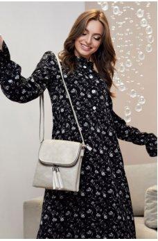 Модное черно-белое платье