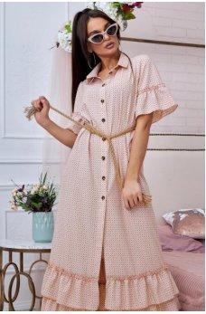 Нежное платье в розовом цвете ретро стиль