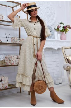 Нежное платье в персиковом цвете ретро стиль