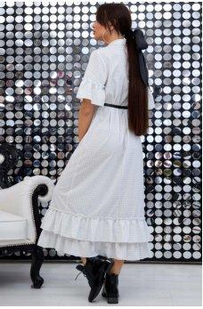 Нежное платье в белом цвете ретро стиль