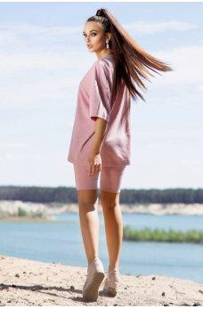 Розовый нежный спортивный костюм