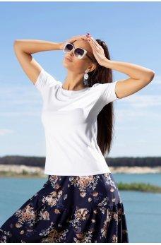 Белая легкая летняя футболка