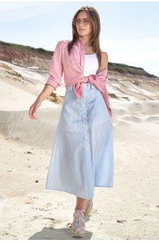 Голубая гламурная юбка в полоску