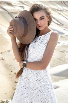 Белое молодежное летнее платье