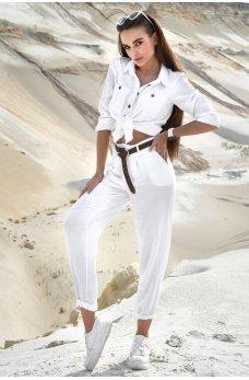 Белый стильный оригинальный костюм