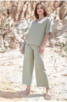 Оливковый универсальный летний костюм