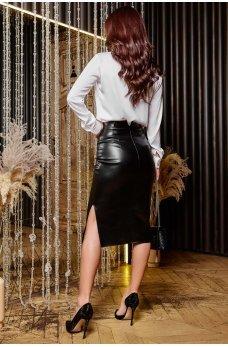 Черная утонченная юбка-карандаш