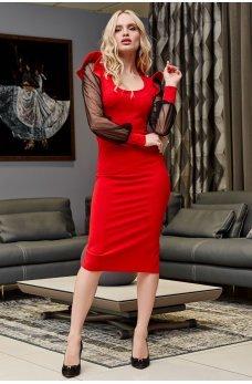 Красное яркое праздничное платье-карандаш