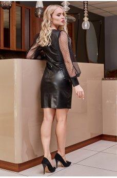 Черное привлекательное женское платье