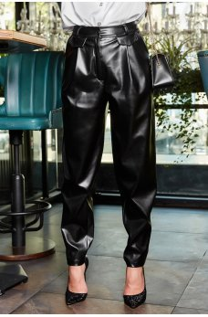 Черные гламурные широкие штаны