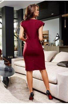 Утонченное элегантное платье карандаш цвета марсала